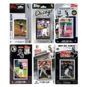 MLB Chicago White Sox 6 Different Licensed Trading Card Team Sets