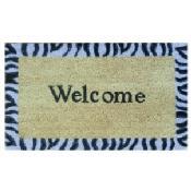 Safari Welcome Natural Coir Vinyl Backing Doormat (1'5 x 2'5)