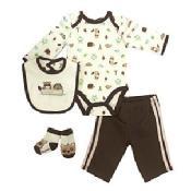 Vitamins Baby Baby Boys' Brown 4-pc. Racoon Pants Set Kid's