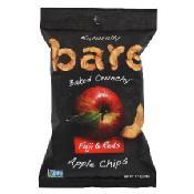 Bare Fruit Crunchy Apple Chips Fuji Red 48-Gram Bags, Pack of 10