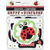 Ladybug Party Birthday Banner